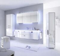 badm bel set 3 tlg wei hochglanz contea pelipal ebay. Black Bedroom Furniture Sets. Home Design Ideas