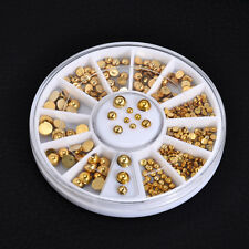 3 Sizes Gold Color DIY Decals 3D Rhinestone DIY Nail Art Stickers Decor Beauty