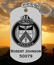 Toronto Police Service Steel Keychain, Personalized FREE, Laser Engraved, Canada