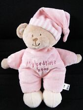 MOTHERCARE MY BED TIME PINK TEDDY SOFT TOY BABY COMFORTER NEXT DAY POST
