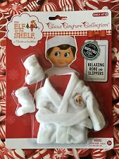 2015 WHITE RELAXING ROBE & SLIPPERS Elf on the Shelf Claus Couture Clothes NEW