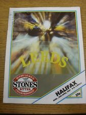 20/04/1987 Rugby League Programme: Leeds v Halifax  (marked on front cover). Tha