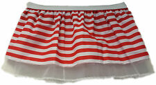 Adults Red and White Striped Nerd Tutu Skirt Funny Festival Fancy Dress