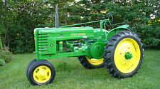 "JOHN DEERE MODEL H ANTIQUE TRACTOR 24"" x 43""  LARGE HD WALL POSTER PRINT."