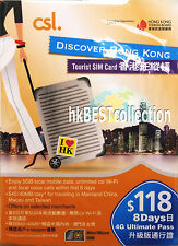 Hong Kong Tourist Prepaid SIM Card  4G 5GB ( 8 Day Pass )