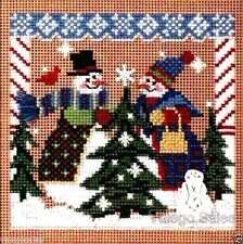 """Mill Hill Buttons Beads Cross Stitch Kit 5"""" x 5"""" ~ TREE SHOPPING Sale #241"""