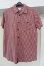 Wrangler Cotton Red Check Shirt Size Medium