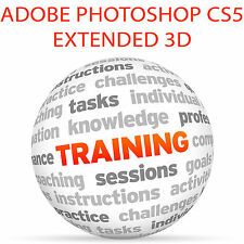 Adobe Photoshop CS5 Extended 3D-video tutorial de formación Set 4DVD