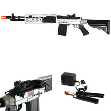*400 FPS* Cyma M14 EBR RIS AEG Scout Airsoft Sniper Rifle Gun AEG - ALL METAL -