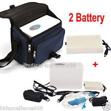 Portable Oxygen Concentrator Generator Home/Travel Car +2 Battery Case Best Out