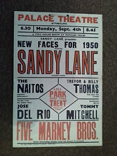 PALACE THEATRE ATTERCLIFFE SHEFFIELD SANDY LANE  Original Poster 1950