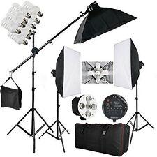 2850W 15 lampadine illuminazione Continuo Softbox*3 Kit con Studio Fotografico
