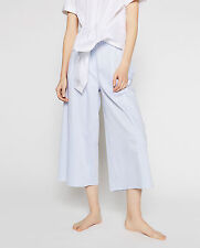 ZARA STUDIO BLUE/ WHITE STRIPED CULOTTES TROUSERS PANTS SIZE S - Ref.  2593/698