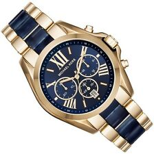 MICHAEL KORS LADIES CHRONOGRAPH WATCH MK6268 NAVY BLUE DIAL BRAND NEW