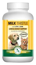 Milk Thistle Liver & Kidney Supplement for DOGS and CATS with DHA, EPA, S...