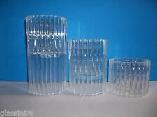 Vintage Mid Century MODERN Van Horn Hayward LUCITE Candle Holders Set Of 3