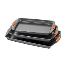Rachael Ray Oven Lovin' Nonstick Bakeware 3Piece Baking and Cookie Pan Set, New