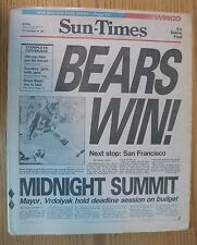 Chicago Bears Win 1984 Chicago Sun Times Newspaper 76 Pages Full Paper Looks NEW