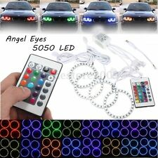 4x Multicolor RGB 80MM 5050 SMD LED Flash Angel Eye Halo Ring IR Remote Control