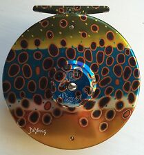 Abel Fly Reel Super 9 Large Arbor DeYoung Brown Trout Flank - New!