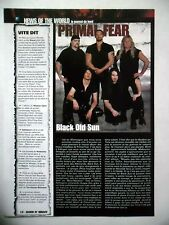 COUPURE DE PRESSE-CLIPPING :  PRIMAL FEAR  04/2002 Ralph Sheepers,Black Sun
