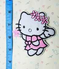 1 Pcs wreath Hello Kitty sewing notions patch iron on embroidered appliques