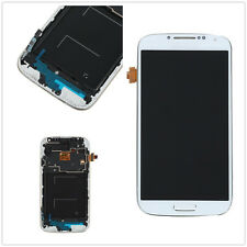 LCD Display Touch Screen Glass Digitizer Frame For Samsung Galaxy S4 i9505 White