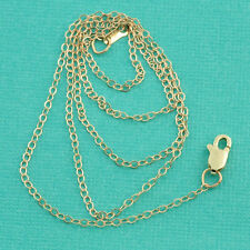 14K SOLID YELLOW GOLD Cable Chain Necklace 18 inch Length