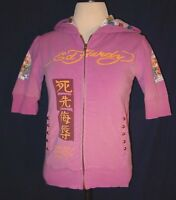 Christian Audigier Ed Hardy Hoodie Pink Hoodie Women's Size Small