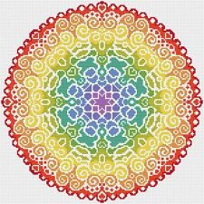 MANDALA CROSS STITCH KIT-COLORATO CROSS STITCH-COMPLETO KIT DMC thread