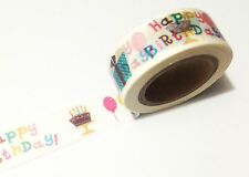 1PC NEW Japanese Washi Tape Craft Sticker, Happy Birthday no.4 10METRE