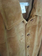 New J CREW  - Women's Leather Suede Jacket  Petite XS   Camel color - Lovelynvin