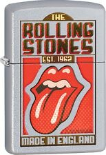 Zippo 2016 Catalog NEW Rolling Stones EST 1962 Satin Chrome Lighter 29127