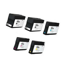 5Pack For HP 950 XL 951XL Combo Ink Cartridges For Officejet 8600 Plus 8600 8100