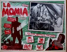 THE MUMMY 1960's Sci-Fi Horror Mexican LOBBY CARD CHRISTOPHER LEE PETER CUSHING