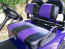 Club Car DS '00 & Up Golf Cart Deluxe™ Seat Covers-Front and Rear(Black/Purple)