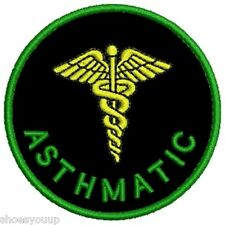 Our NEW Range of Medical Alert Embroidered Patches - Asthmatic