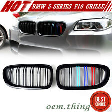 Painted M Color Gloss BMW 5-Series F10 F11 Front Grille Grill Kidney 535i M5 16