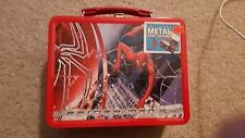 *SPIDERMAN THE MOVIE 2004 MARVEL COMICS BY NECA METAL LUNCH BOX AND THERMOS