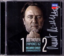 Riccardo Chailly SIGNED Beethoven Symphony 1 & 2 Creatures Prometeo Leonore CD