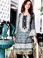 Pakistani Designer Embroidered Linen 3Pcs Stitched Suit Kurta Bell Bottom Salwar