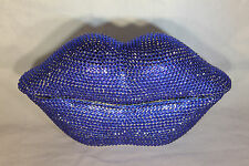 Lips Telephone with Rhinestone Bling in Blue N 226