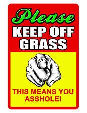 KEEP OFF GRASS Sign NO TRESPASSING SIGN DURABLE ALUMINUM FULL COLOR NO RUST