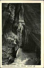 Lichtensteinklamm Liechtenstein Klamm Pongau Österreich s/w AK 1927 Höhe Brücke