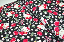 HELLO KITTY KOKKA JAPAN USA Designerstoff ROCKABELLA KIRSCHEN CHERRY KIRSCHE D
