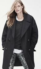 ISABEL MARANT POUR H&M OVERSIZED DARK GRAY WOOL BLEND COAT JACKET 42/US 12