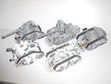 Warhammer 40K Imperial Guard 2x Leman Russ 1x Basilisk 2x Chimera Tanks