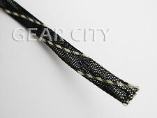 jb11s 3m 10ft SMALL 6mm Black Striped Expandable Braid Sleeving Polyester DIY