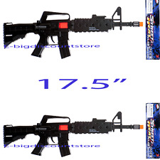 2X Plastic Machine Gun AS M- Rifle Toy as Military Army Soldier Gun Fire Sound