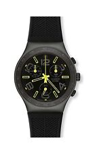 NEW IN BOX Swatch Irony Aluminum Chrono Black Swiss Wrist Watch SR936SW YCM4000V